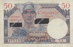 50 Francs SUEZ FRANCE  1956 VF.41.01 TTB
