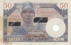 50 Francs SUEZ FRANCE  1956 VF.41.01 TTB+