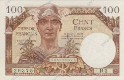 100 Francs TRÉSOR FRANCAIS FRANCE  1947 VF.32.01 NEUF