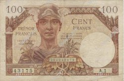 100 Francs TRÉSOR FRANCAIS FRANCE  1947 VF.32.01 pr.TTB