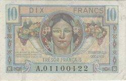 10 Francs TRÉSOR FRANCAIS FRANCE  1947 VF.30.01 TTB