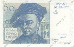 50 Francs QUENTIN DE LA TOUR et ST.EXUPERY FRANCE  1987 F.72- NEUF
