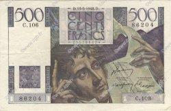 500 Francs CHATEAUBRIAND FRANCE  1948 F.34.08 TTB+