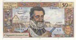 50 Nouveaux Francs HENRI IV FRANCE  1959 F.58.01 pr.SUP