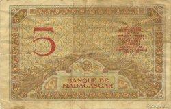 5 Francs MADAGASCAR  1937 K.802b TTB