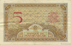 5 Francs MADAGASCAR  1937 K.802b TTB+