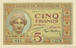 5 Francs MADAGASCAR  1937 K.802b pr.NEUF