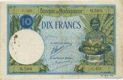 10 Francs MADAGASCAR  1926 K.803b TB