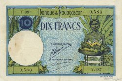 10 Francs MADAGASCAR  1926 P.36 TTB+