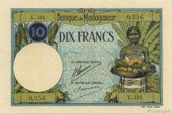10 Francs MADAGASCAR  1926 K.803b pr.NEUF