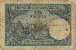 10 Francs MADAGASCAR  1957 P.36 B+