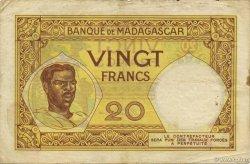 20 Francs MADAGASCAR  1926 K.806b TB+