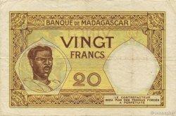 20 Francs MADAGASCAR  1926 P.37 TTB