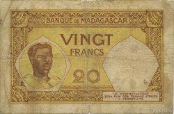 20 Francs MADAGASCAR  1937 P.37 B+
