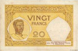 20 Francs MADAGASCAR  1937 P.37 TB