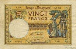 20 Francs MADAGASCAR  1937 P.37 TTB