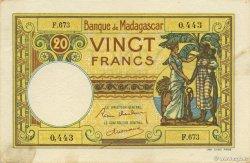 20 Francs MADAGASCAR  1937 P.37 SUP