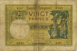 20 Francs MADAGASCAR  1948 P.37 B à TB