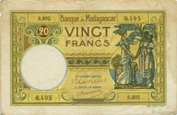 20 Francs MADAGASCAR  1948 P.37 TTB