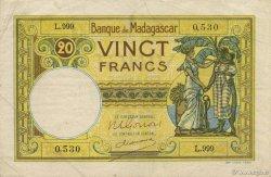 20 Francs MADAGASCAR  1948 K.808b TTB+