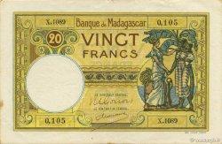 20 Francs MADAGASCAR  1948 P.37 SUP+