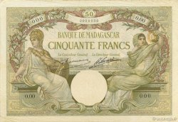 50 Francs MADAGASCAR  1926 K.809as SUP