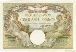 50 Francs MADAGASCAR  1926 K.809as pr.NEUF
