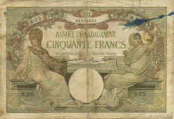 50 Francs MADAGASCAR  1937 P.038 MC