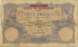 100 Francs MADAGASCAR  1893 P.34 B+