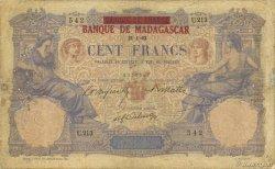 100 Francs MADAGASCAR  1893 K.812 B à TB