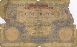 100 Francs MADAGASCAR  1893 P.34 AB