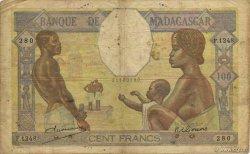 100 Francs MADAGASCAR  1948 K.814b B+ à TB
