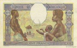 100 Francs MADAGASCAR  1948 K.814b SUP+ à SPL