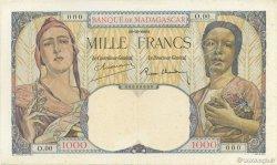 1000 Francs MADAGASCAR  1939 P.41s SUP
