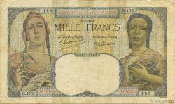 1000 Francs MADAGASCAR  1948 P.41 B+