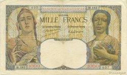 1000 Francs MADAGASCAR  1948 P.41 TB+