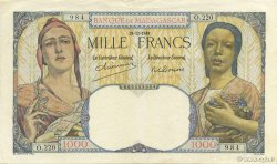 1000 Francs MADAGASCAR  1948 K.818b SUP
