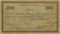 1000 Francs MADAGASCAR  1941 P.43 pr.TB
