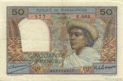 50 Francs MADAGASCAR  1950 K.823b TTB+ à SUP