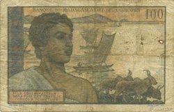 100 Francs MADAGASCAR  1950 P.46a TB