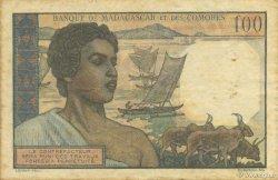 100 Francs MADAGASCAR  1950 K.825b TTB