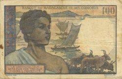 100 Francs MADAGASCAR  1950 K.826b TTB