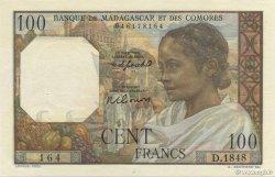 100 Francs MADAGASCAR  1950 P.46b SUP+
