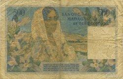 500 Francs MADAGASCAR  1952 P.47a B+
