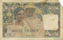 1000 Francs MADAGASCAR  1950 P.48a TB