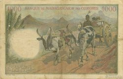 1000 Francs MADAGASCAR  1950 P.48a TB+