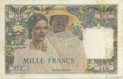 1000 Francs MADAGASCAR  1951 K.829c TTB
