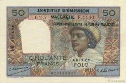 50 Francs - 10 Ariary MADAGASCAR  1961 P.51a pr.SUP