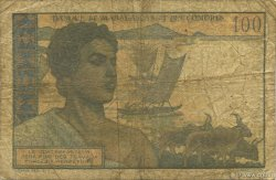 100 Francs - 20 Ariary MADAGASCAR  1961 P.52 AB