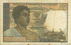 100 Francs - 20 Ariary MADAGASCAR  1961 P.52 TTB
